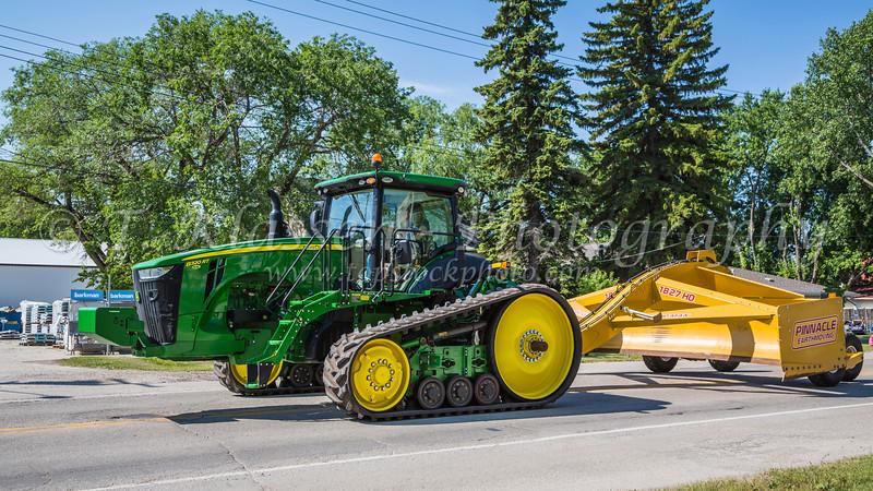 The 2017 Sunflower Festival street parade in Altona, Manitoba, Canada.
