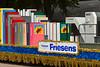 The Friesens of Altona parade float at the 2012 Harvest Festival street parade in Winkler, Manitoba, Canada.