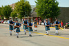 A bagpipe and marching in the Carman, Manitoba parade.