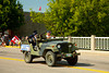 A Canadian Legion jeep in the street parade in Carman, Manitoba, Canada.