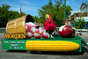 The Morden Corn and Apple Festival parade float in the Carman, Manitoba parade.