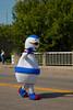 A mascot figure in the Carman, Manitoba parade.