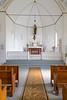 The historic Ste. Thérèse Roman Catholic Church interior santiuary at Cardinal, Manitoba, Canada.