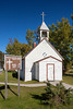 The Canadian Martyrs Parish church at Cranberry Portage, Manitoba, Canada.