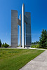 The Peace Towers at the International Peace Garden on the North Dakota and Manitoba border.