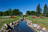 The floral gardens and border designation at the International Peace Garden on the North Dakota and Manitoba border.
