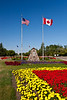 The floral gardens at the International Peace Garden on the North Dakota and Manitoba border.