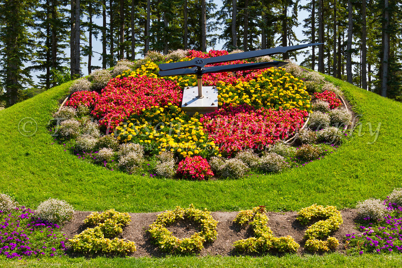 The Floral Clock at the International Peace Gardens on the border between Manitoba and North Dakota