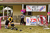 Welcome signs for the TSN/Kraft Celebration tour in Manitou, Manitoba, Canada.