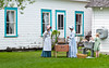 An outdoor demonstration of washing or laundry day at the Mennonite Heritage Village in Steinbach, Manitoba, Canada.