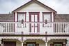 An historic restored Mennonite house/barn in Neubergthal, Manitoba, Canada.