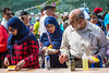 Muslim public and free corn at the Corn and Apple Festival 2016 in Morden, Manitoba, Canada.