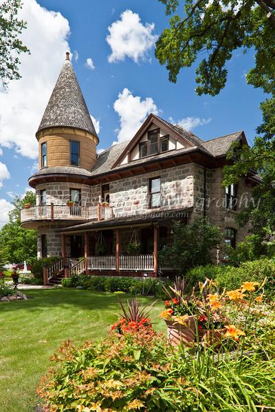 A castle like home in Morden, Manitoba, Canada.