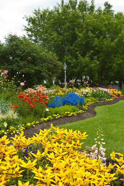 Horticulural gardens on display at the Lily Festival in Neepawa, Manitoba, Canada.