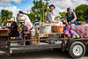 The 2016 Plum Fest street parade in Plum Coulee, Manitoba, Canada.