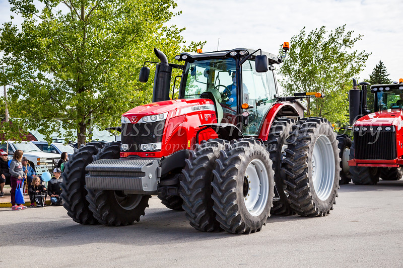 A large tractor at the 2016 Plum Fest street parade in Plum Coulee, Manitoba, Canada.