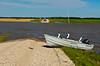 The 2005 Manitoba flood near Morris, Manitoba, Canada.