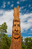 Aboriginal totem structure at the park in Winnipeg Beach, Manitoba, Canada.