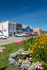 Decorative flowers on the main street of Souris, Manitoba, Canada.