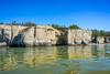Limestone cliffs on Lake Manitoba at Steep Rock, Manitoba, Canada.