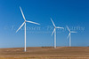 Windmills on the prairie at the windfarm near St. Leon, Manitoba, Canada.