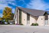 The Winkler Bergthaler Mennonite Church south entrance in Winkler, Manitoba, Canada.