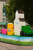 The Bunge parade float at the 2012 Harvest Festival street parade in Winkler, Manitoba, Canada.