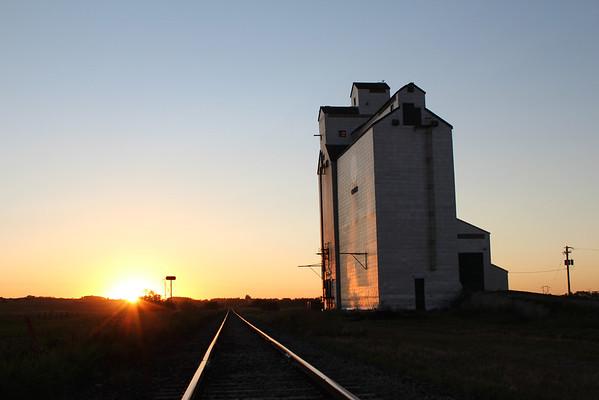 Cromer - tracks at sunset