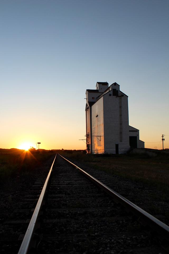 Cromer - tracks at sunset (portrait)