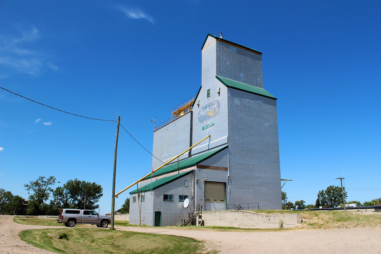 Waskada - against the prairie sky