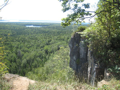 View from highest point on trail