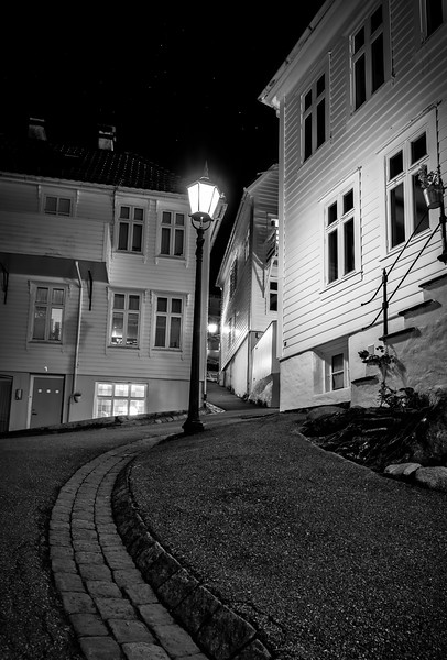 Bergen city lights