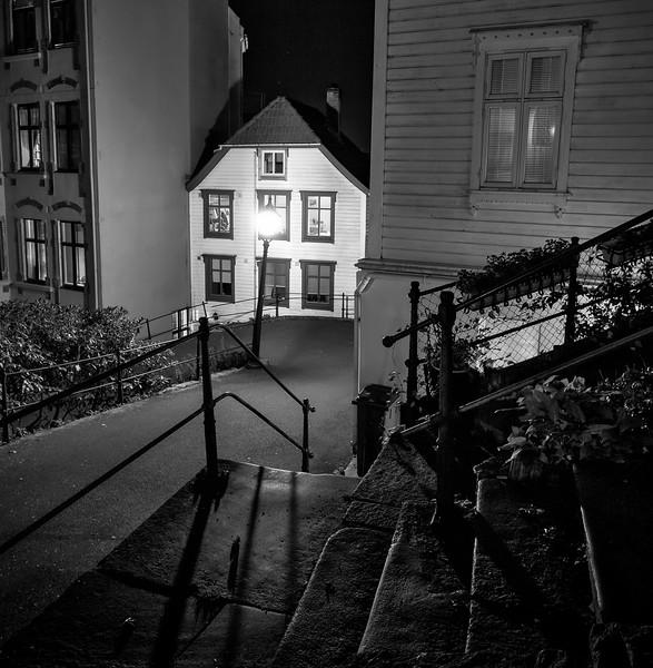 Bergen city lights