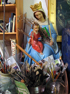 Painter's Madonna, Seaforth 2008 40 x 30cm