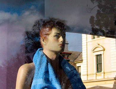 Boy with Blue Towel, Goulburn 2003 25 x 32