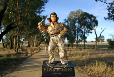 Elvis On The Road, Morongla Creek 2005 30 x 43cm