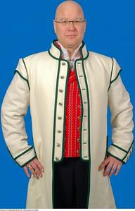 Mannsbunad fra Østfold med hvit jakke
