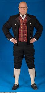 Mannsbunad fra Valdres med svart kort jakke