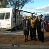 Here at the holiday park we meet up as arranged with our friends John and Lynn Scholz