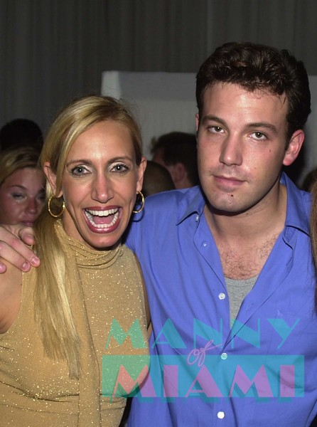 Lily Estefan and Ben Affleck at the Cartier party at the Delano Hotel on South Beach.<br /> manny hernandez photo