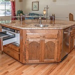 Custom built Island to match cabinetry