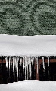 Rooftop Icicles on the Sunrise Point General Store