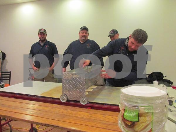 David Hoeppner making a batch of pancakes.