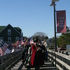 The Guilde of St. Andrew with town folks on the Cora Mae Basnight Memorial Bridge
