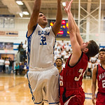 Trey Moses (32) was strong taking it to the hoop for the Eagles.