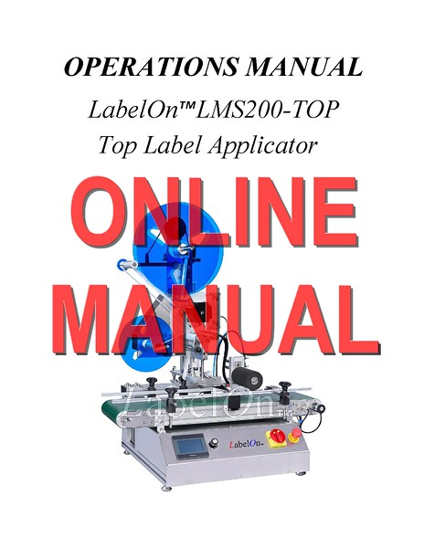 LabelOn Mini Synergy 200 top - LMS200 - TOP Manual - AUS