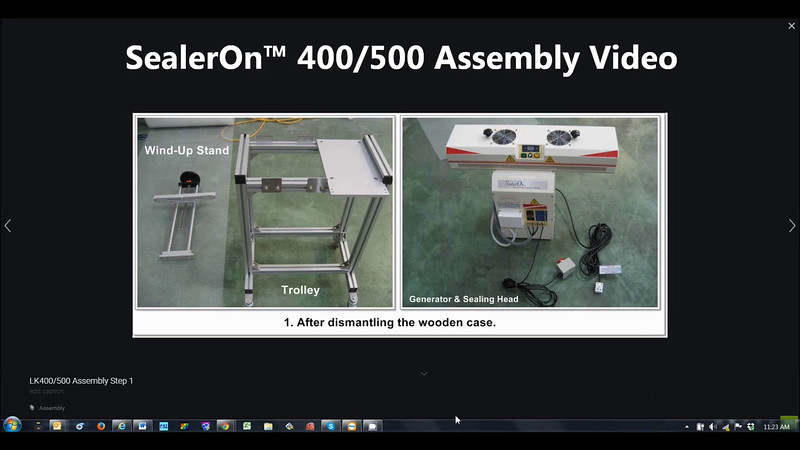 SealerOn™ 400/500 Assembly Video - With AUDIO - You need Speakers or Head Phones