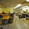 Clearing out the space for classroom and offices.