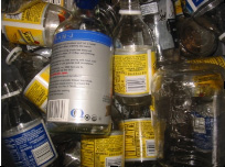 Glass bottles ready to be recycled<br /> -a glimpse of the 1st stage in the transformation of this material