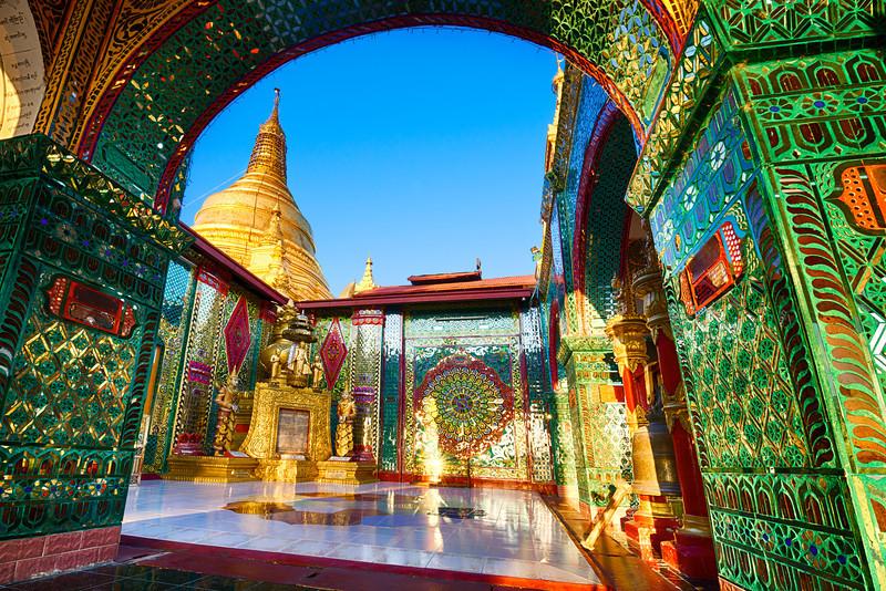 The open prayer room atop Mandalay Hill Temple Mandalay, Myanmar